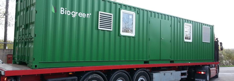 Biogreen 熱分解装置 コンテナー積載