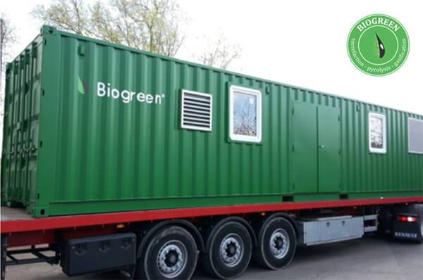 Biogreen-container コンテナー熱分解装置 2018.3.21