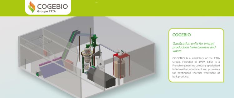 COGEBIO 木質バイオマス ガス化発電 Biogreen 熱分解装置 2018.4.15