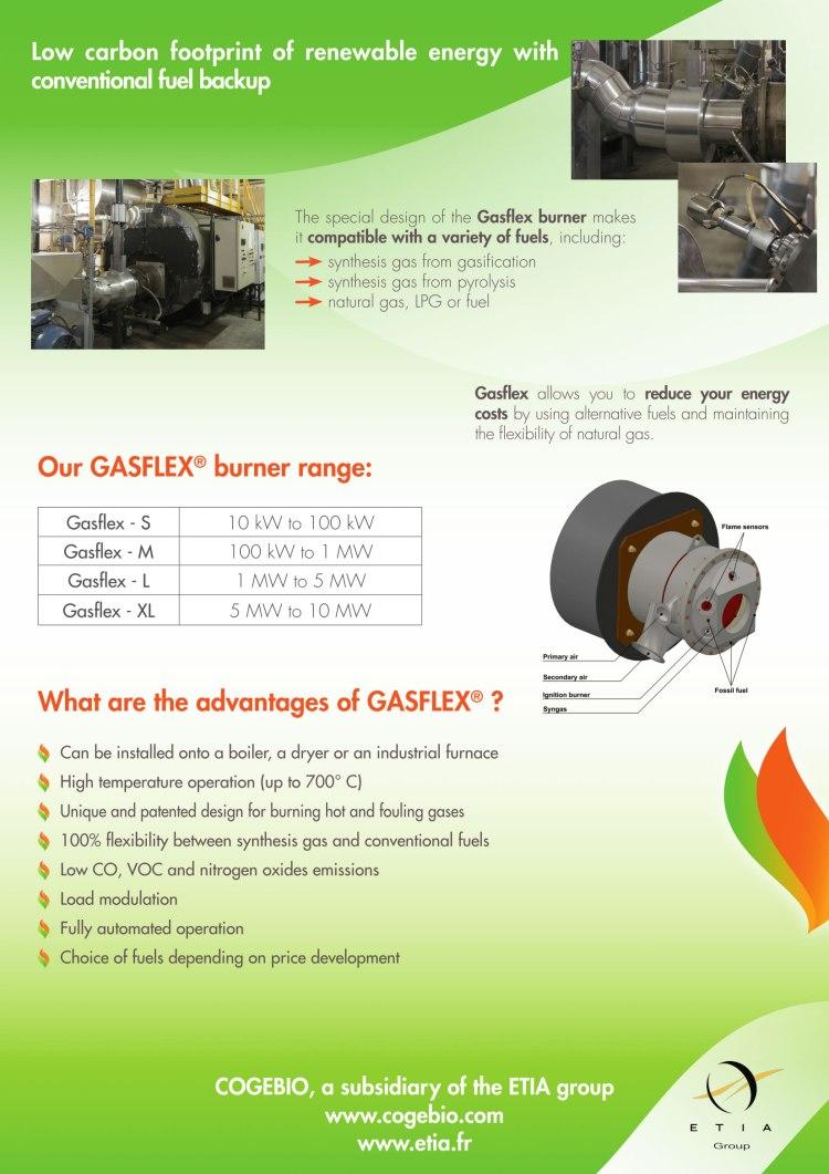 熱分解ガスバーナー gasflex Gasflex カタログ 2p 熱分解装置 Biogreen 2018.4.10