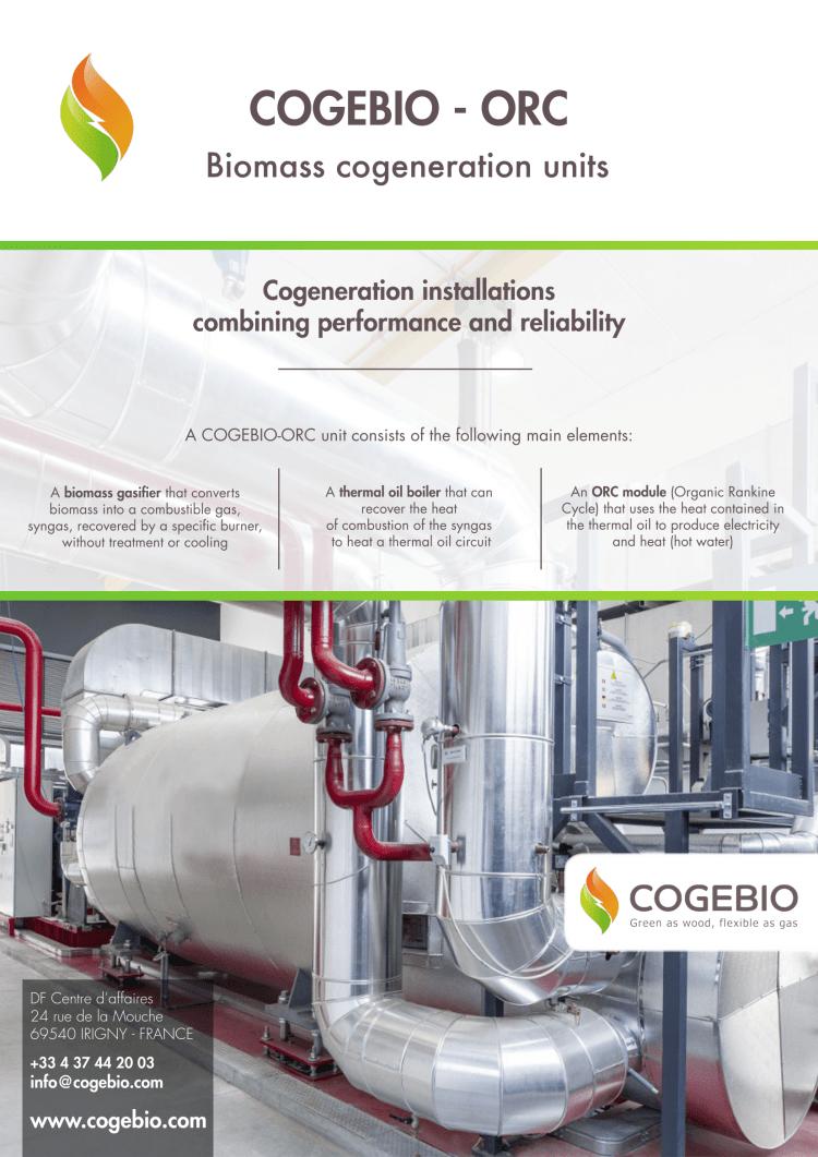 CEGOBIE 木質バイオマスガス化ORC発電システム カタログ 1 2018.5.4