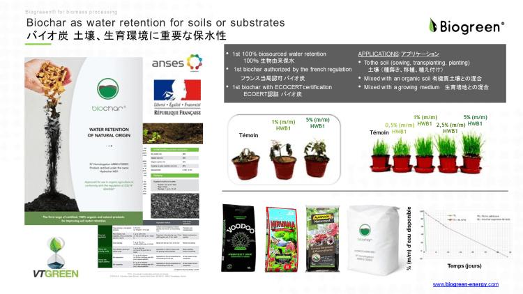 バイオ炭 ECOERT認証 土壌改良剤 保水性 熱分解装置 炭化 2018.6.27