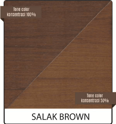 wood stain kayu biovarnish warna salak brown