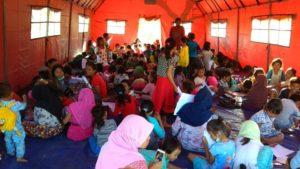 kondisi anak-anak di pengungsian lombok