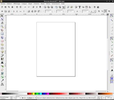 Capture d'écran du logiciel de dessin Inkscape