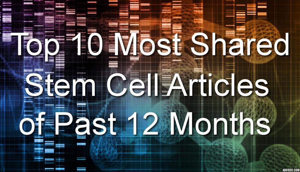 Top 10 Most Shared Stem Cell Articles of the Past 12 Months