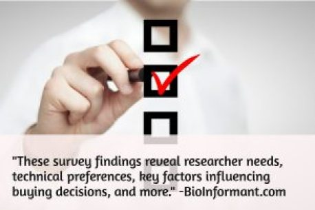 These survey findings reveal researcher needs, technical preferences, key factors influencing buying decisions, and more.