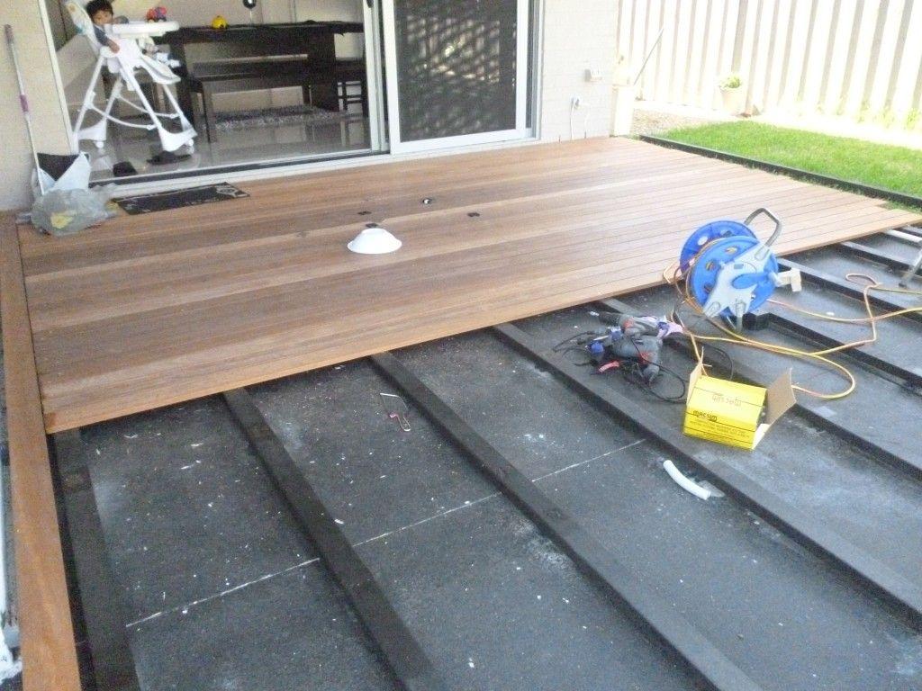 Composite Decking Over Concrete Porch • Decks Ideas on Deck Over Patio Ideas id=25265