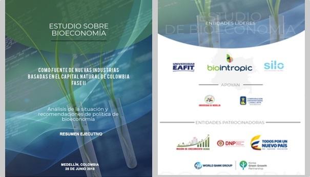 Portada y logos estudio de Bioeconomía Biointropic