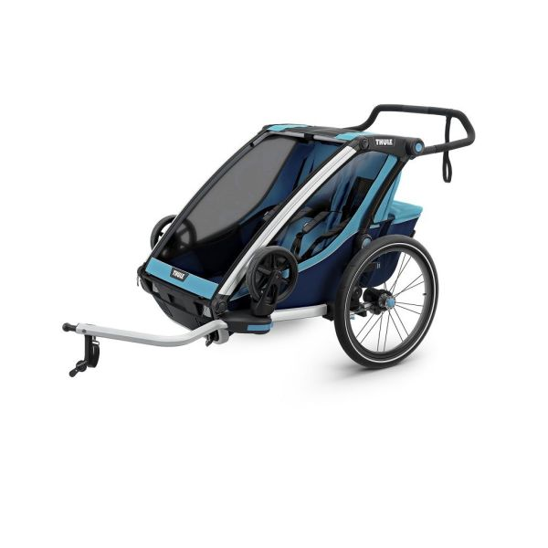 Thule Chariot Cross 2 plava dječja kolica za dvoje djece