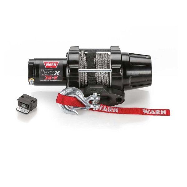 Vitlo Warn VRX 35-S Powersport, 12V, 1.588kg sa sintetskim užetom i vodilicom s žičnim daljinskim