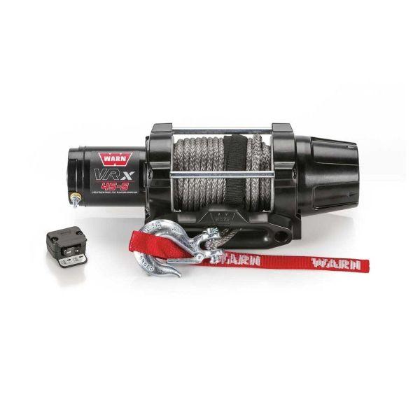 Vitlo Warn VRX 45-S Powersport, 12V, 2.041kg sa sintetskim užetom i vodilicom s žičnim daljinskim