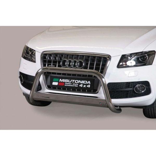 Misutonida Bull Bar Ø63mm inox srebrni za Audi Q5 2008-2015 s EU certifikatom
