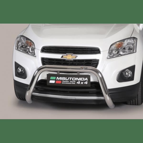 Misutonida Bull Bar Ø76mm inox srebrni za Chevrolet Trax 2013+ s EU certifikatom