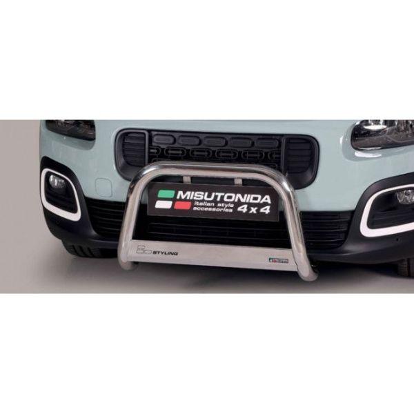 Misutonida Bull Bar Ø63mm inox srebrni za Citroën Berlingo MWB 2018+ s EU certifikatom