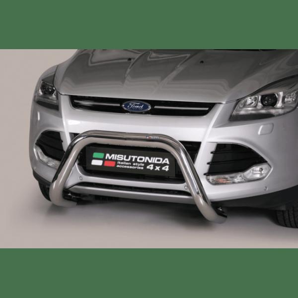 Misutonida Bull Bar Ø76mm inox srebrni za Ford Kuga 2013-2016 s EU certifikatom