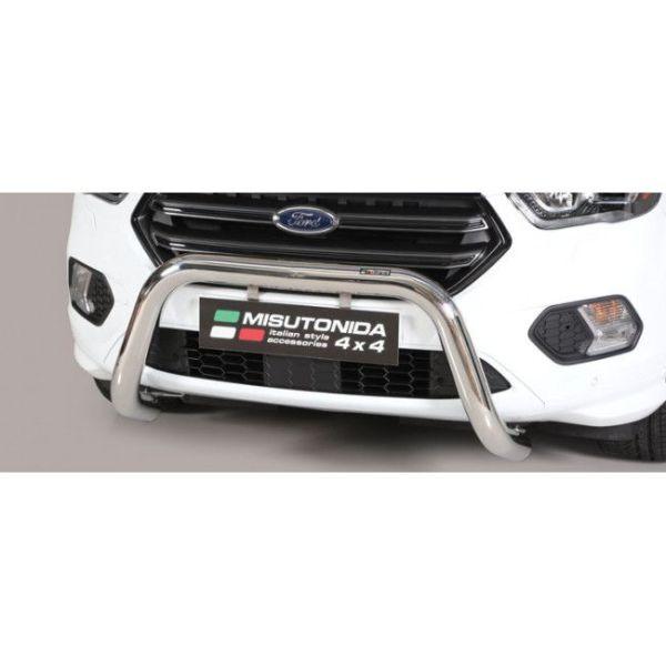 Misutonida Bull Bar Ø76mm inox srebrni za Ford Kuga 2017 s EU certifikatom