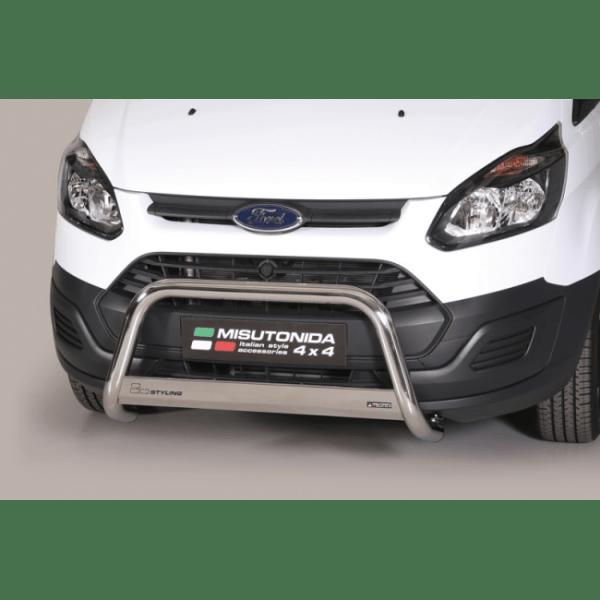 Misutonida Bull Bar Ø63mm inox srebrni za Ford Transit Custom L2 2013-2017 s EU certifikatom