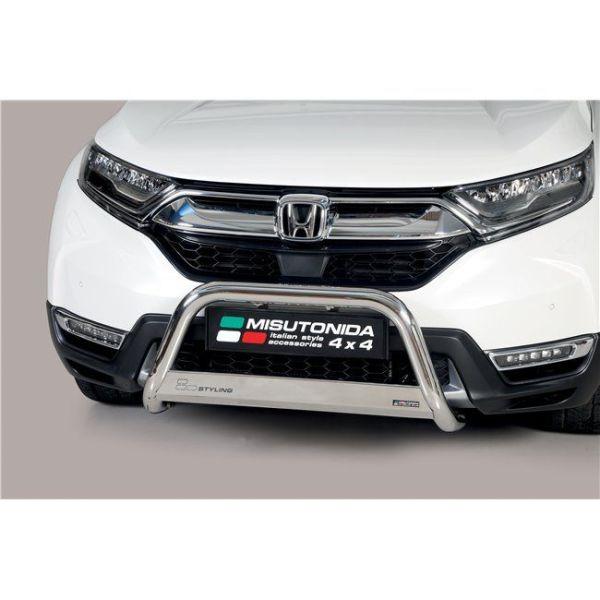 Misutonida Bull Bar Ø63mm inox srebrni za Honda CR-V Hybrid 2019 s EU certifikatom