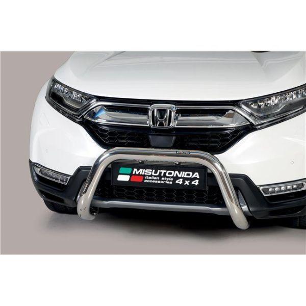 Misutonida Bull Bar Ø76mm inox srebrni za Honda CR-V Hybrid 2019 s EU certifikatom