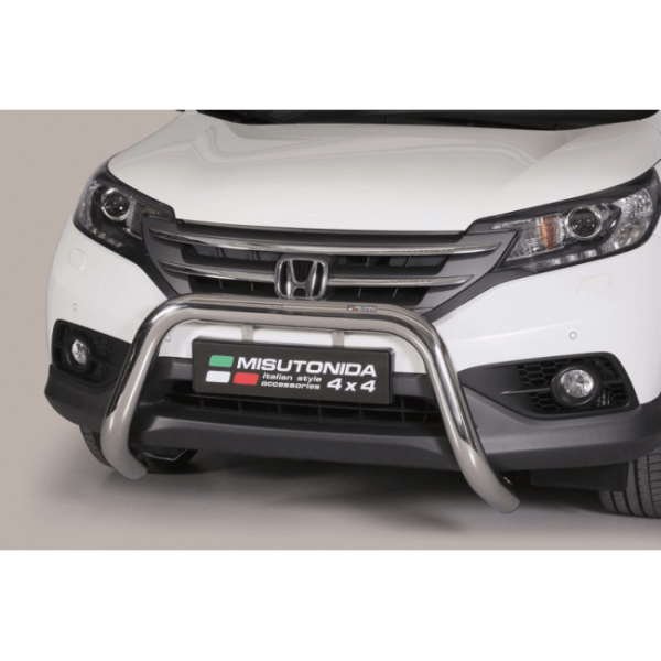Misutonida Bull Bar Ø76mm inox srebrni za Honda CR-V 2012-2015 s EU certifikatom