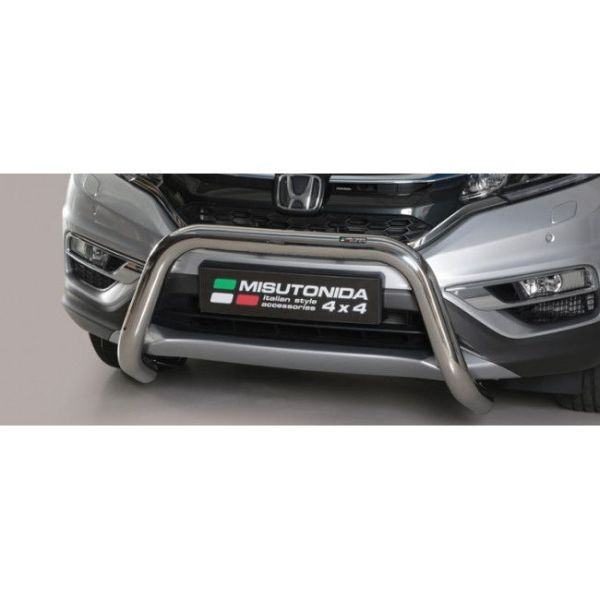 Misutonida Bull Bar Ø76mm inox srebrni za Honda CR-V 2016-2018 s EU certifikatom