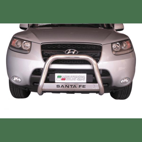 Misutonida Bull Bar Ø63mm inox srebrni za Hyundai Santa Fe 2006-2010 s EU certifikatom