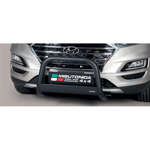 Misutonida Bull Bar Ø63mm inox crni za Hyundai Tucson 2018+ s EU certifikatom