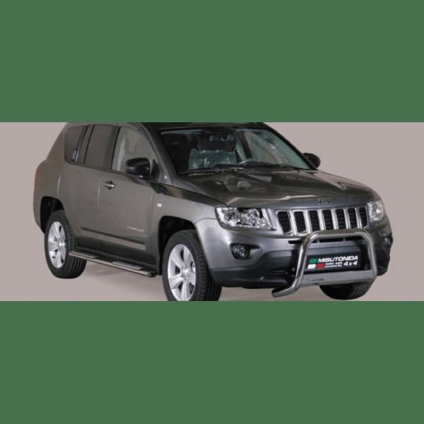 Misutonida Bull Bar Ø63mm inox srebrni za Jeep Compass 2011-2016 s EU certifikatom