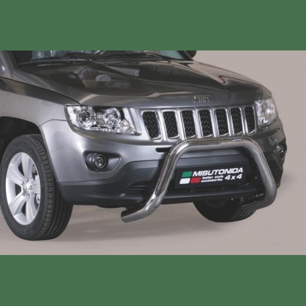 Misutonida Bull Bar Ø76mm inox srebrni za Jeep Compass 2011-2016 s EU certifikatom