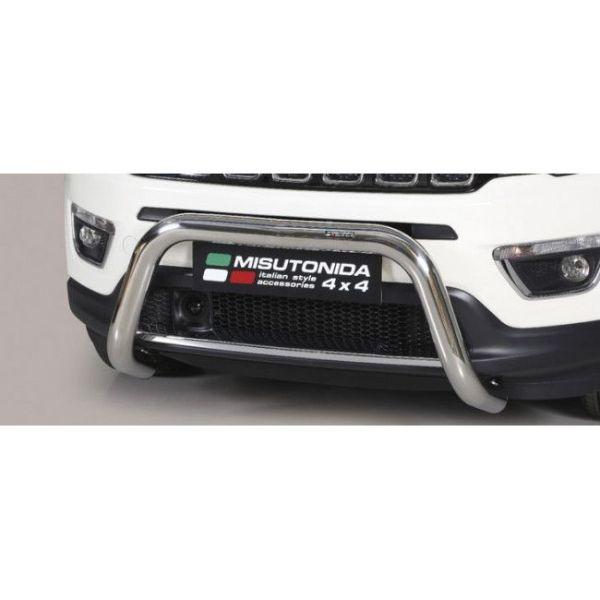 Misutonida Bull Bar Ø76mm inox srebrni za Jeep Compass 2017 s EU certifikatom
