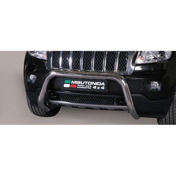 Misutonida Bull Bar Ø76mm inox srebrni za Jeep Grand Cherokee 2011-2014 s EU certifikatom
