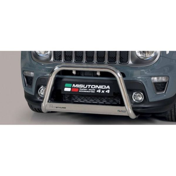 Misutonida Bull Bar Ø63mm inox srebrni za Jeep Renegade 2018-2019 s EU certifikatom