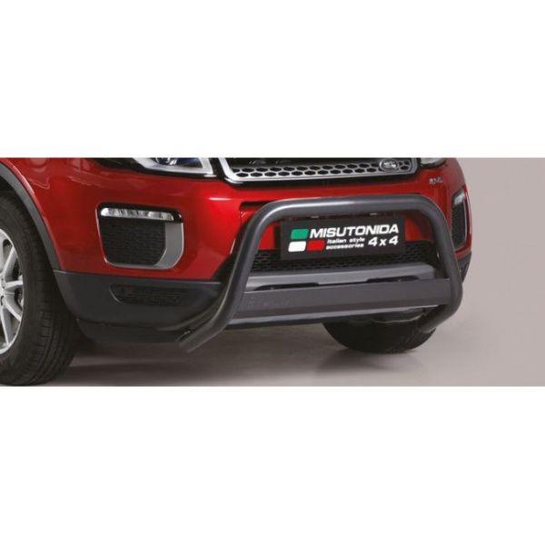 Misutonida Bull Bar Ø63mm inox crni za Range Rover Evoque 2016+ s EU certifikatom