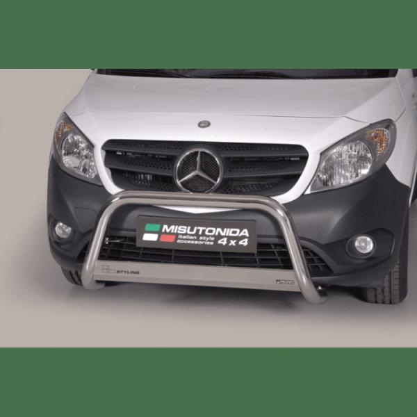 Misutonida Bull Bar Ø63mm inox srebrni za Mercedes Citan 2012 s EU certifikatom