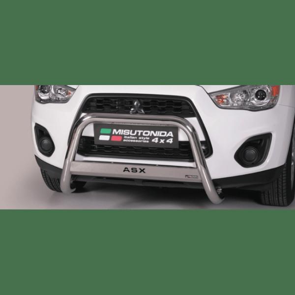 Misutonida Bull Bar Ø63mm inox srebrni za Mitsubishi ASX 2010-2011 s EU certifikatom