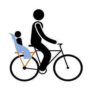 Dječje sjedalice za bicikl stražnje na nosač tereta Thule