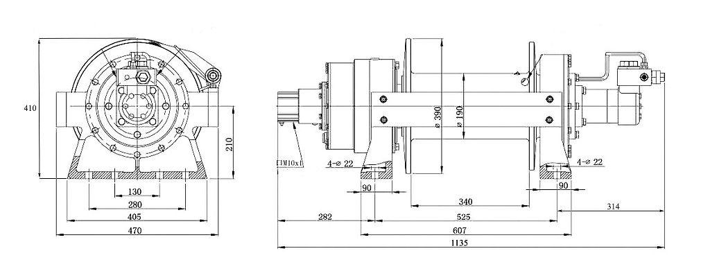 Vitlo Dragon Hidra DWHI 300 HD, hidraulično, 13.605 kg, bez kontrolnog seta i sajle