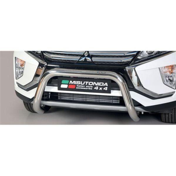 Misutonida Bull Bar Ø76mm inox srebrni za Mitsubishi Eclipse Cross 2018 s EU certifikatom