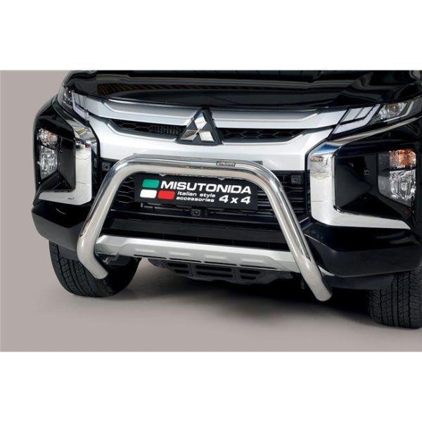 Misutonida Bull Bar Ø76mm inox srebrni za Mitsubishi L200 Double Cab 2019 s EU certifikatom