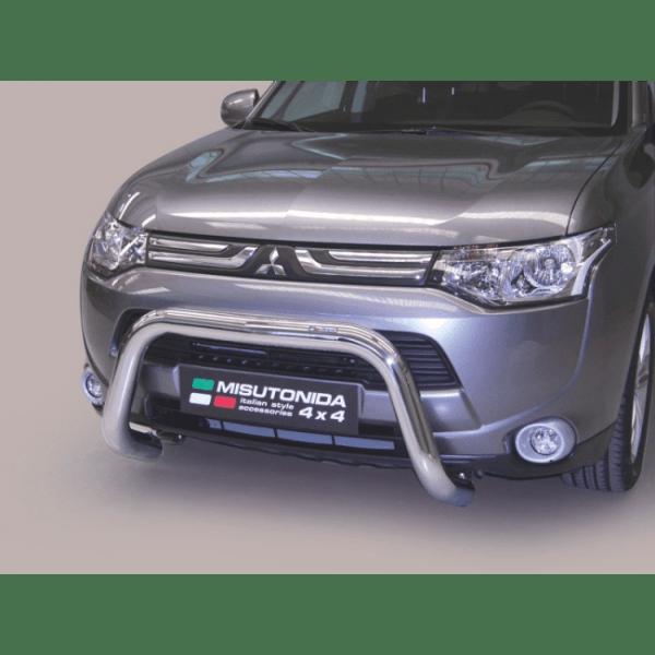 Misutonida Bull Bar Ø76mm inox srebrni za Mitsubishi Outlander 2013 - 2015 s EU certifikatom