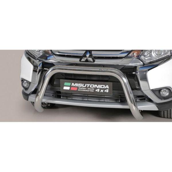 Misutonida Bull Bar Ø76mm inox srebrni za Mitsubishi Outlander 2015 - 2019 s EU certifikatom