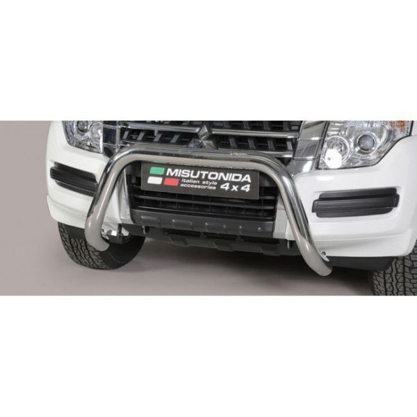 Misutonida Bull Bar Ø76mm inox srebrni za Mitsubishi Pajero 2015 s EU certifikatom