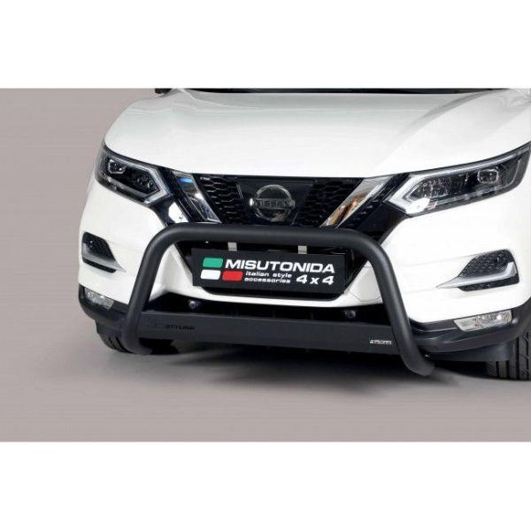 Misutonida Bull Bar Ø63mm inox crni za Nissan Qashqai 2014 - 2016 s EU certifikatom