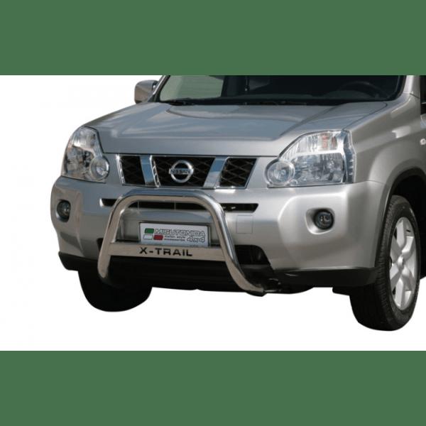 Misutonida Bull Bar Ø63mm inox srebrni za Nissan X-Trail 2007-2010 s EU certifikatom