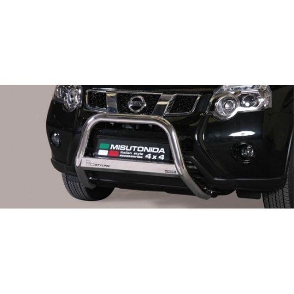 Misutonida Bull Bar Ø63mm inox srebrni za Nissan X-Trail 2011-2014 s EU certifikatom