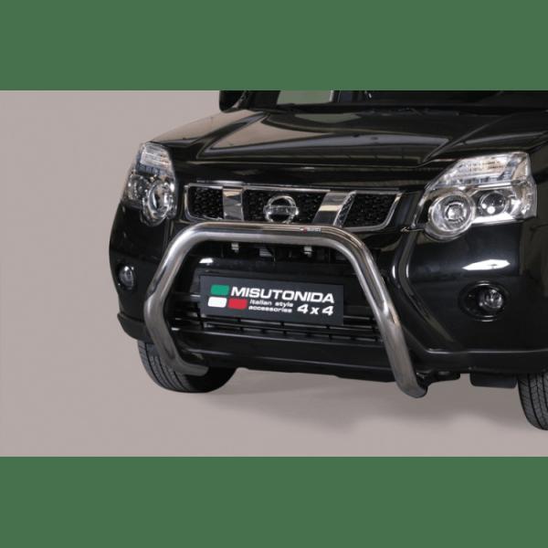 Misutonida Bull Bar Ø76mm inox srebrni za Nissan X-Trail 2011-2014 s EU certifikatom