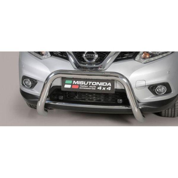 Misutonida Bull Bar Ø76mm inox srebrni za Nissan X-Trail 2015-2017 s EU certifikatom