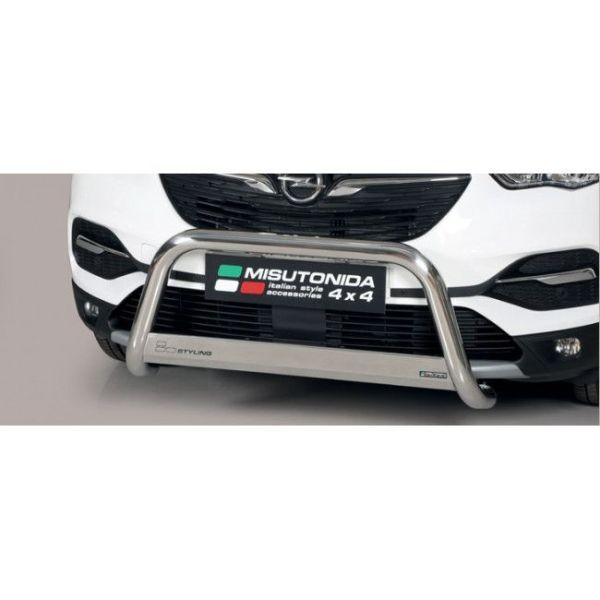 Misutonida Bull Bar Ø63 inox srebrni Bull Bar Opel Grandland X 2018 s EU certifikatom