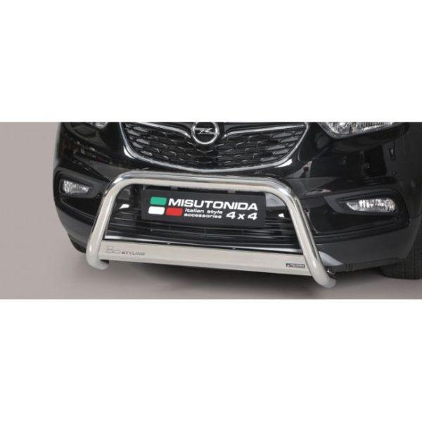 Misutonida Bull Bar Ø63 inox srebrni Bull Bar Opel Mokka X 2016+ s EU certifikatom